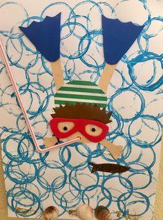 #sommerlichebastelarbeiten Summer Crafts For Kids, Summer Art, Spring Crafts, Art For Kids, Kindergarten Art, Preschool Crafts, Sea Crafts, Art Lessons Elementary, Art Classroom