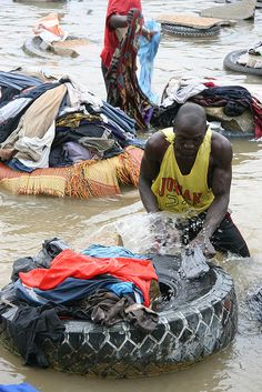 Laundry in Ivory Coast