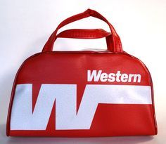 7b13654207 This Vintage Western Airlines Amenities Bag is the smaller of the two  available in flight bags.