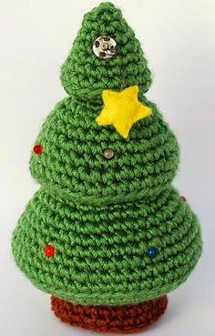 Patrón gratis - Fuente: http://crafteandoqueesgerundio.blogspot.com.es/2014/12/patron-arbol-navidad-pattern-christmas-tree.html