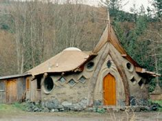 """""""Cob cottages are so fanciful. Crowded, but lovely to look at.""""~Sethaka. Image posted to Lady Lavona's Cabinet of Curiosities on December 2, 2008."""