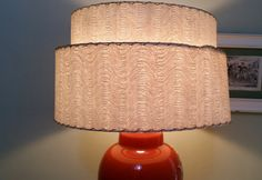 Fifties Two Tier Fiberglass Lampshade Mid by GladStoneatHome