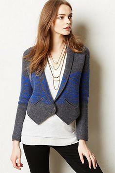 Anil Boiled Wool Blazer  #anthropologie  i want it