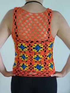 Blusa em crochê tamanho M  Material: Linha 100% prolipropileno