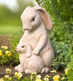Main image for Cuddling Bunnies Garden Statue Rabbit Garden, Rabbit Art, Garden Statues, Garden Sculpture, Animal Statues, Bunny Art, Garden Ornaments, Garden Accessories, Garden Art
