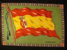 SPAIN FLAG Early 1900s Tobacco Cigar Cigarettes Silks Felt Rug Dollhouse
