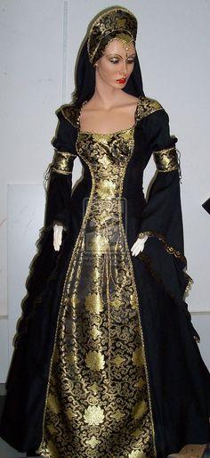 Black-gold dress by Azinovic.deviantart.com on @deviantART