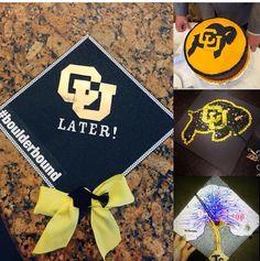 CU Boulder: graduation cap ideas. High School/College