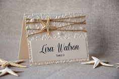PLACE CARDS beach/marine   Wedding places, Weddingideas and Place card