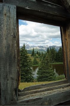 View Through a Cabin Window by Wyatt Guernsey - http://www.digitalcameraworld.com/2012/07/12/a-room-with-a-view-30-spectacular-window-views/
