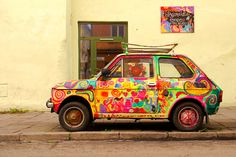 Small Fiat, city of Kraków (Cracow), Poland
