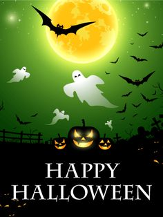 Send Free Scary Night Halloween Card to Loved Ones on Birthday & Greeting Cards by Davia. It's free, and you also can use your own customized birthday calendar and birthday reminders. Halloween Poster, Halloween Painting, Halloween Goodies, Halloween Cards, Halloween Halloween, Happy Halloween Pictures, Halloween Images, Halloween Backgrounds, Fall Halloween