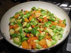 brussell sprouts and golden beets