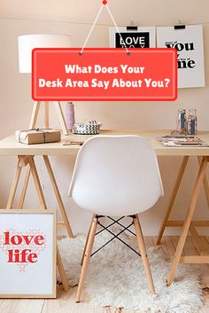 Most of us have home offices complete w/ our very own desk. Your desk area may be super organized or utter chaos, either way it probably says a lot about your personality.