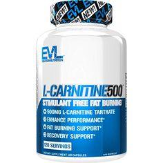 Evlution Nutrition L-Carnitina 500, 500 mg de L carnitina pura em cada porção, sem estimulantes, cápsulas (120 porçõe... Carnitine Benefits, Fat Burner Supplements, Drink Bottles, Fat Burning, Weight Loss, Detox, Losing Weight, Loosing Weight, Loose Weight