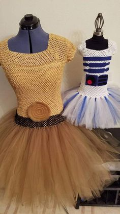 Star Wars Inspired Costume Tutu Dresses Darth Vader, Leia, Chewy, R2D2, C3P0, BB8 by: TheGoldTutuShop