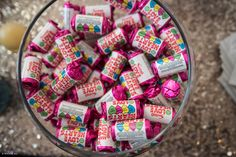 Love Hearts - Retro sweets / Candy bars always a hit with guests - not just the children! Can also be used as Favours