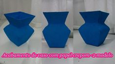 Como fazer acabamento de vaso com papel crepom - 2 modelo!