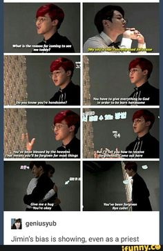 Jikook ♥ Priests aren't supposed to be biased, Jimin! Lol | BTS