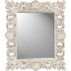 Paragon Rectangle Cream Shells Mirror - 8803