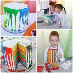 great paint looking cake idea