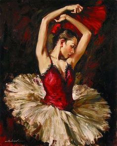 Ballerina by Andrew Atroshenko - Ballet, балет, Ballett, Bailarina, Ballerina… Art Ballet, Ballet Dancers, Art Expo, Ballerina Painting, Ballerina Art, Dance Paintings, Ballet Beautiful, Diy Art, At Least