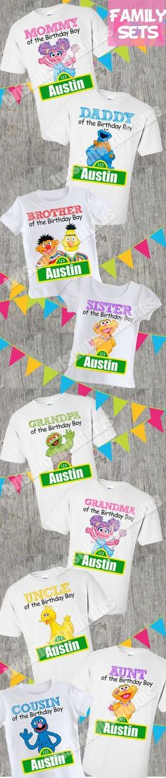 Sesame Street Birthday Shirt Family Set | Sesame Street Birthday Party Ideas | Sesame Street First Birthday | Elmo Birthday Party Ideas | Elmo Birthday Family Shirts | Twistin Twirlin Tutus #sesamestreetbirthday