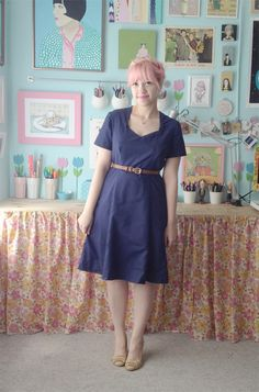 Scathingly Brilliant: look what I made #6: navy sweetheart dress