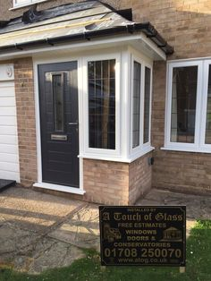 Porch Uk, Porch Doors, House With Porch, House Front, Front Doors, Windows And Doors, Porch Extension, House Extension Design, Extension Ideas