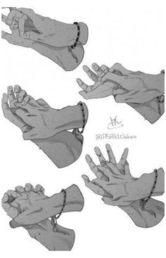 hand drawing reference holding