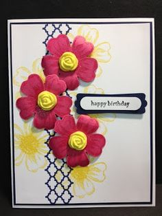 Flower Shop and Simply Pressed flowers Birthday Card Stampin' Up! Rubber Stamping Handmade Cards