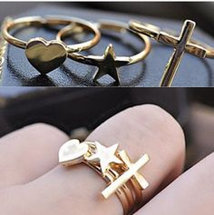 Aliexpress.com : Buy Min.order is $15 (mix order) Wholesale Retro Cross / Heart / Five Pointed Star Three Piece Ring,Fashion Ring KJ1211241 from Reliable rings suppliers on JY Jewelry Co.,Ltd (Min.order15$+Gift)