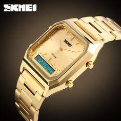 2017 Skmei Top Brand Luxury Men Sport Wrist Watch Mens Gold Square Digital Watches Man Wristwatch Male Clock relogio masculino #CLICK! #clothing, #shoes, #jewelry, #women, #men, #hats, #watches