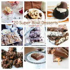 20 Super Bowl desserts | ohsweetbasil.com