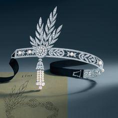 """""""Savoy"""" Tiara de platino, diamantes y perlas """"El Gran Gatsby"""" - #Joyas y #celebrities en @BijouPrivee"""