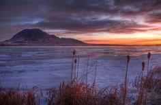 Bear Butte Sunrise, a sacred site for the Lakota Indians taken at sunrise.