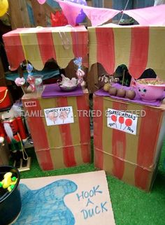 Make your own funfair stalls.