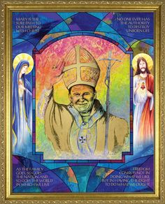 Lythograph of St. John Paul II