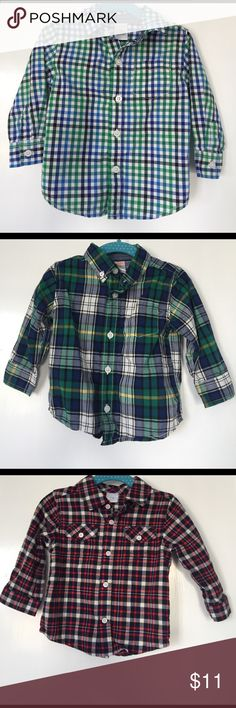Bundle of three long sleeve shirts NWOT, only washed and hung. Perfect condition. Gymboree Shirts & Tops Button Down Shirts
