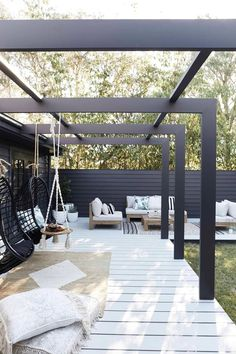 47 Most Amazing Pergola Design Ideas For Summer Living Pergola Patio, Pergola Shade, Pergola Kits, Backyard Patio, Pavers Patio, Patio Stone, Patio Plants, Concrete Patio, Patio Table
