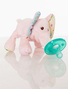 Wubbanub Ella Bella Pink Elephant - Baby Pacifier Someone get this <3