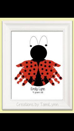 Hand ladybug