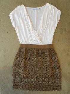 Crochet Macchiato Party Dress [3040]