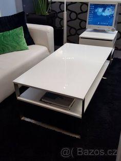 Luxusní bílý konferenční stolek - 1