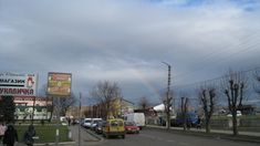 Веселка зимою в м.Старий Самбір