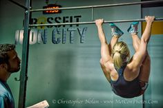 Toes to bar - not this tall girl's fav! // Sarah Ireland of Crossfit Iron City