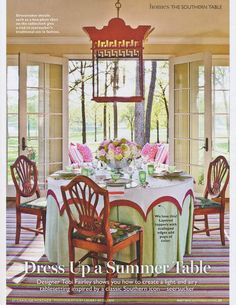 Dressing a Summer Table