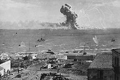 U.S. munitions ship goes up during the invasion of Sicily.