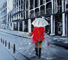 Original Architecture Painting by Magdalena Serwin Oil On Canvas, Canvas Art, Umbrella Painting, Original Paintings, Original Art, White Umbrella, Source Of Inspiration, Figurative Art, Buy Art