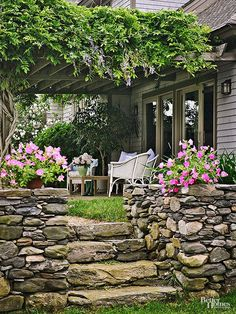 A simple, soothing design incorporating elements from nature is often ideal for a small patio.